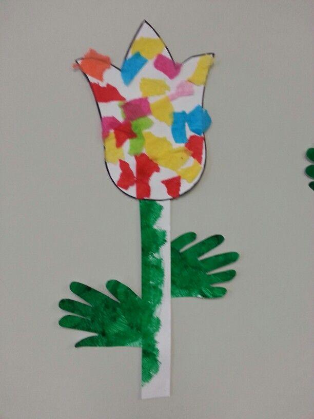 Tissue Paper Flowers Preschool