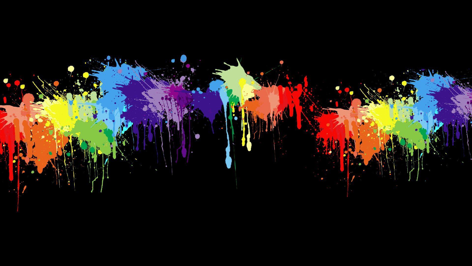 Neon Splatter Wallpaper