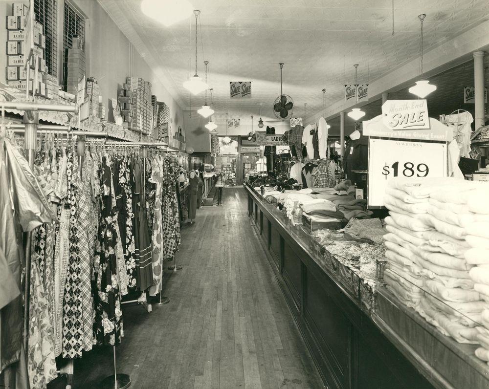 Shop Interior Of Jj Newberry Alma Michigan 1949 Vintage Storefront Pocatello Central Michigan University