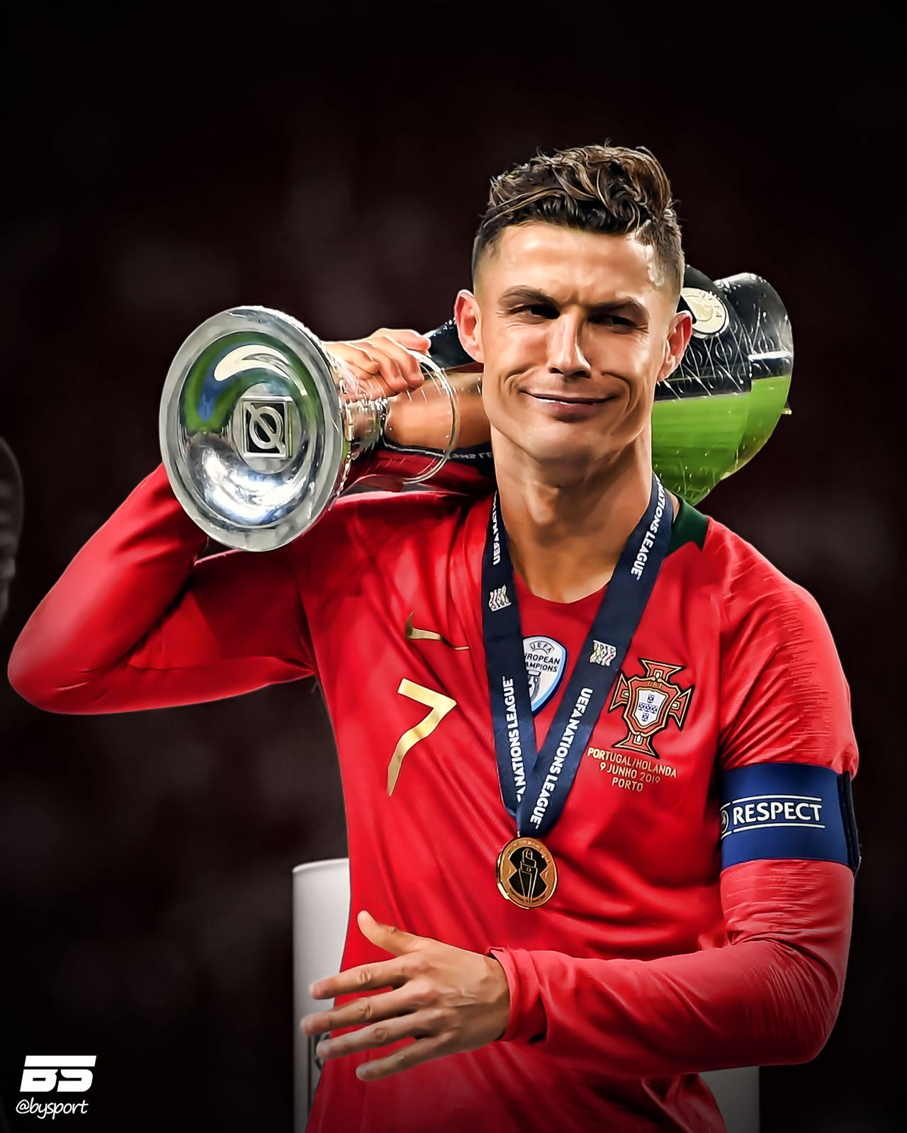 The First Ever Uefa Nations League Winners Cristiano Ronaldo Style Cristiano Ronaldo Portugal Crstiano Ronaldo