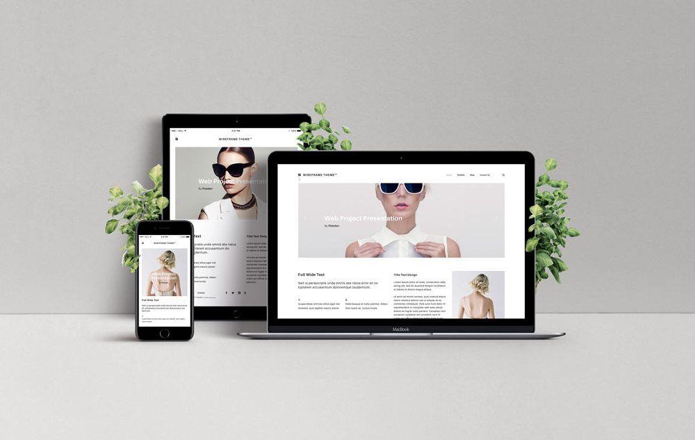 Responsive Web Design Showcase Mockup Web Design Mockup Responsive Web Design Website Mockup