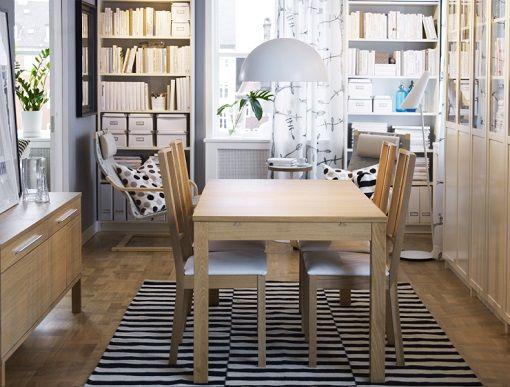 comedor silla metalicas mesa redonda blanca libreria blanca ikea ...