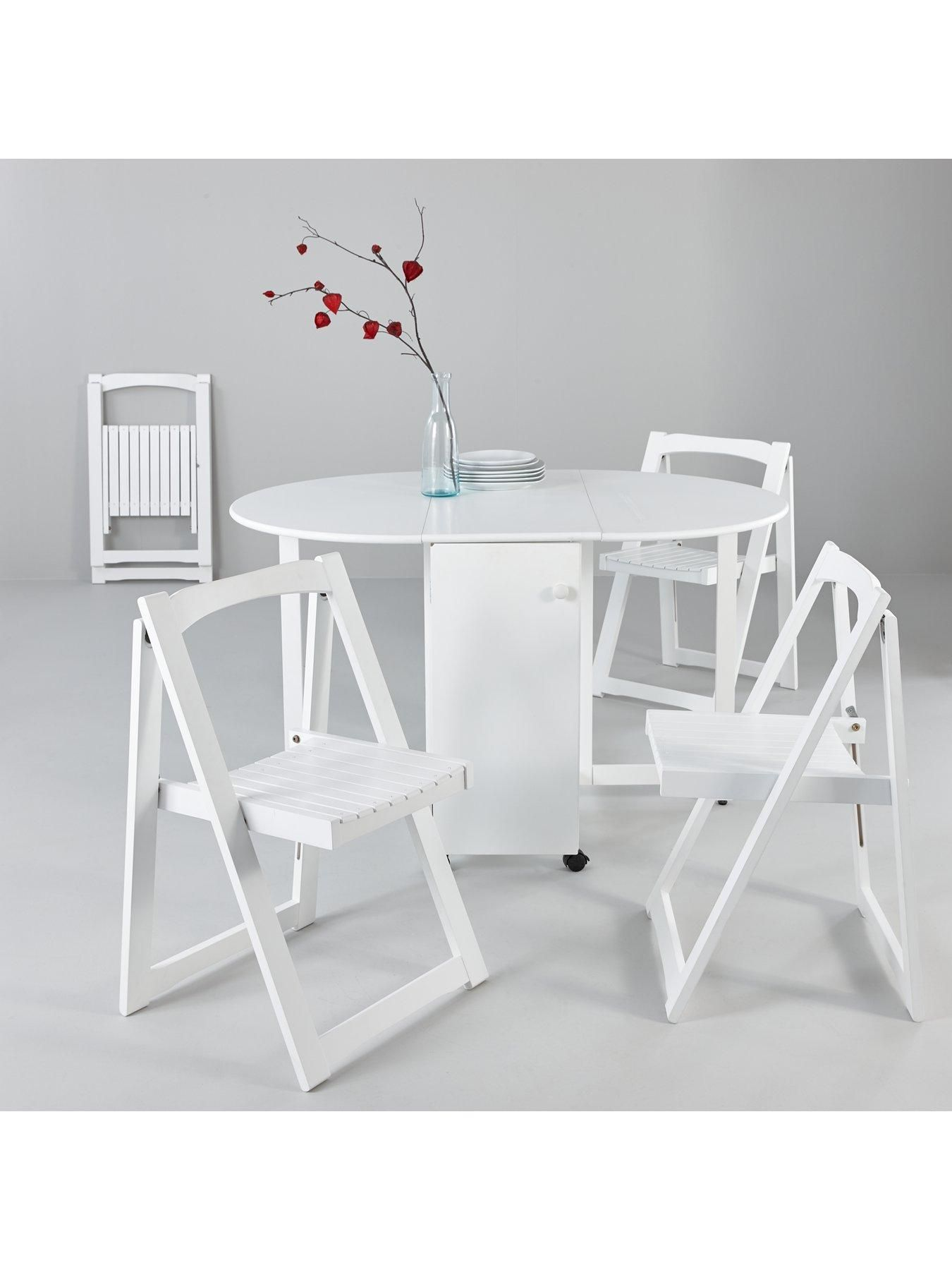 This great value 130 cm Wooden Butterfly Dining and Set of 4 Chairs can be folded  away for space-saving ease!Made from solid wood with an MDF and ... d105b604cb