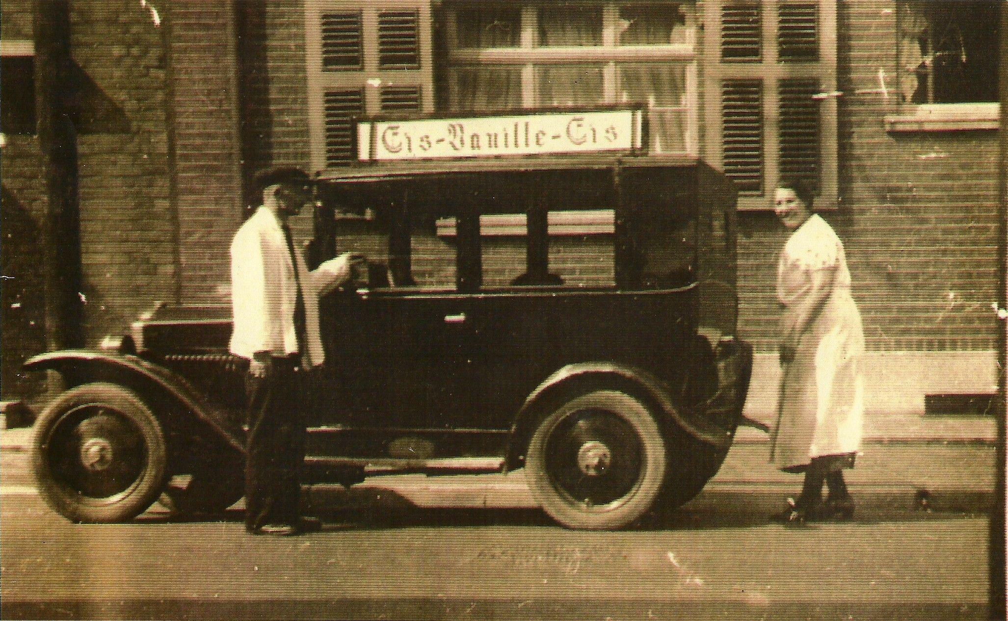 Eiswagen in Alsdorf, 1930