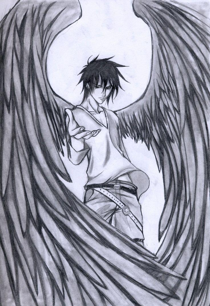 Image Result For Pencil Drawn Anime Mejores Dibujos A Lapiz Angeles Dibujos Angeles Caidos
