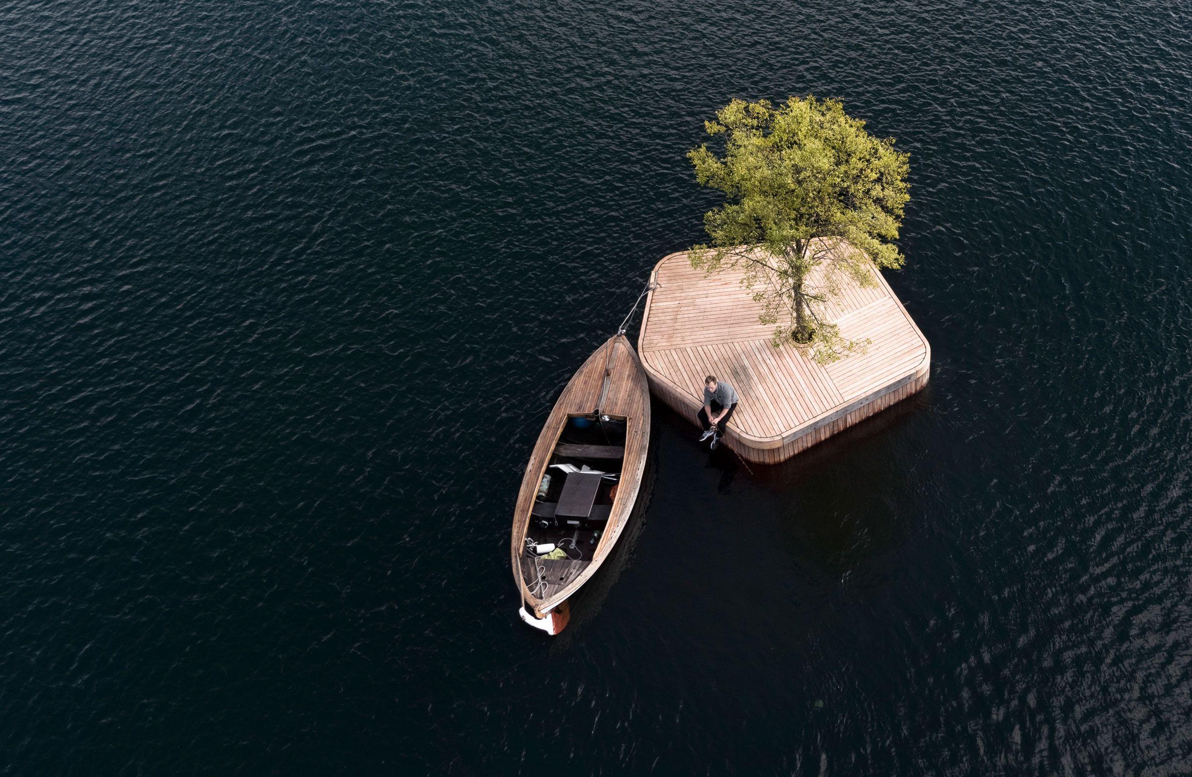 Floating Islands By Fokstrot Artificial Island Copenhagen Wooden Island