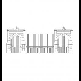 School gates | Cad drawing | Cad blocks free, Cad drawing