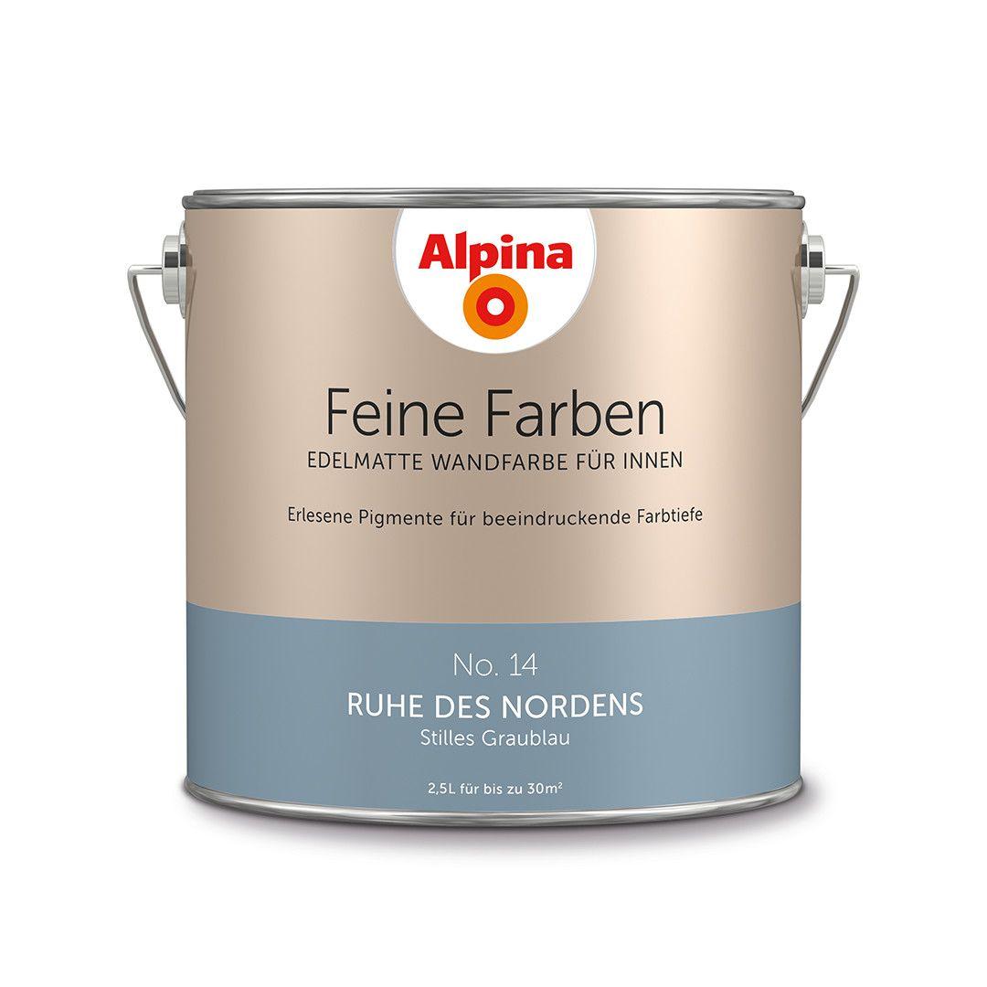 alpina feine farben no. 14 – ruhe des nordens. #design #diy #farbe, Wohnzimmer dekoo