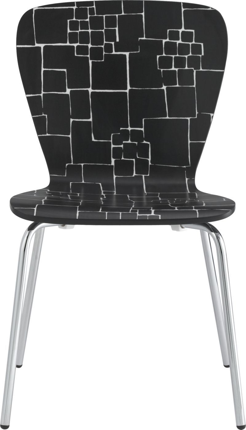 Prime Felix Black White Pattern Side Chair In Dining Chairs Dailytribune Chair Design For Home Dailytribuneorg