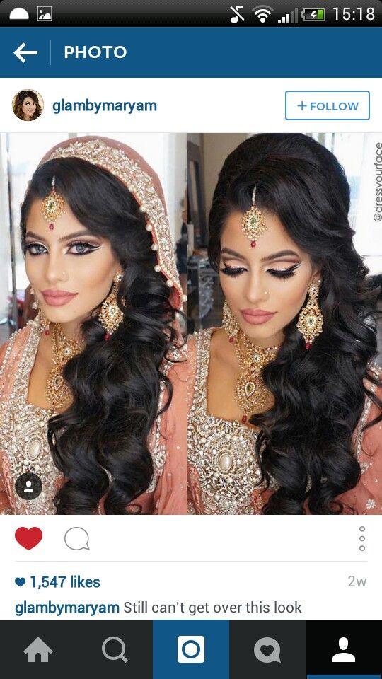 Dress Your Face Dyf Dupatta With Hair Down Bridal Hair And