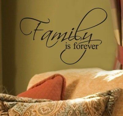 Family is forever Vinyl Lettering Wall Sayings Word Art Home Decor ...