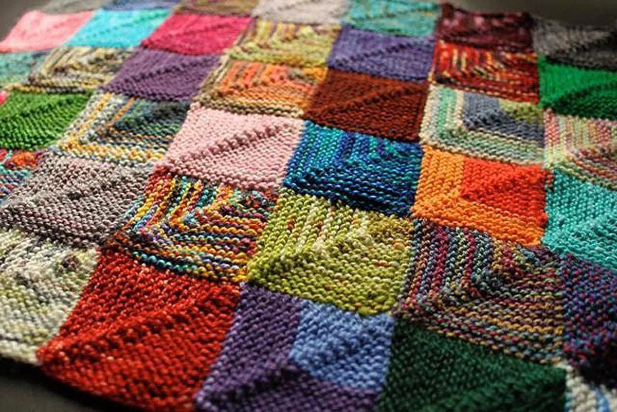 Knitted Patchwork Recipe | Craftsy | Knit yeah! | Pinterest ...