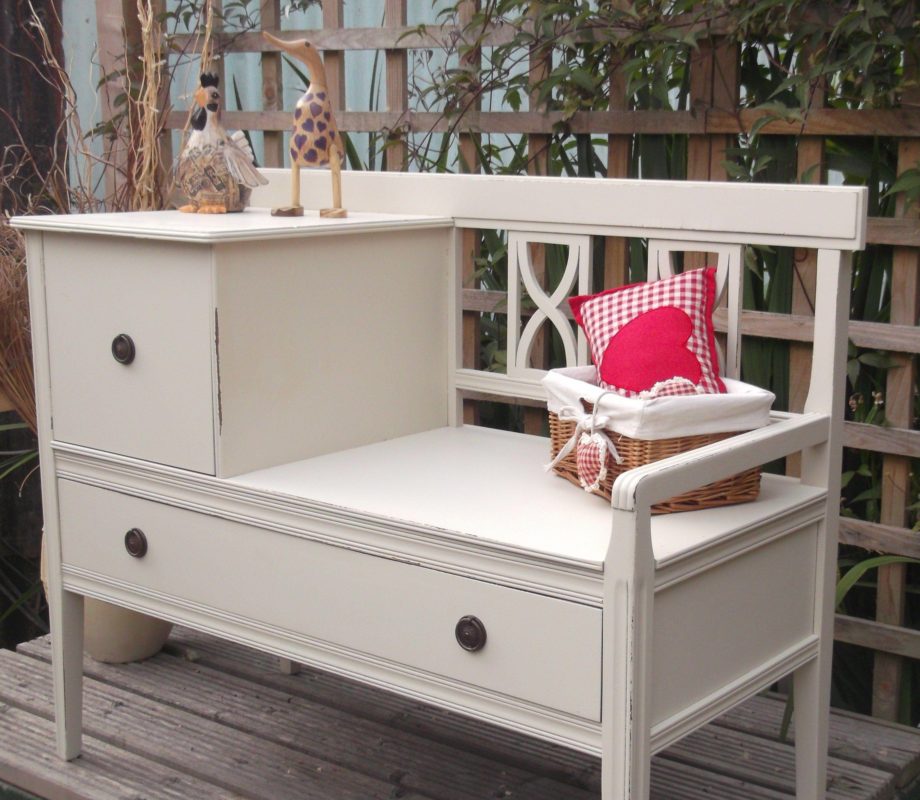 Hallway furniture habitat  Vintage hall tablebench more on the website  ART AND DIY