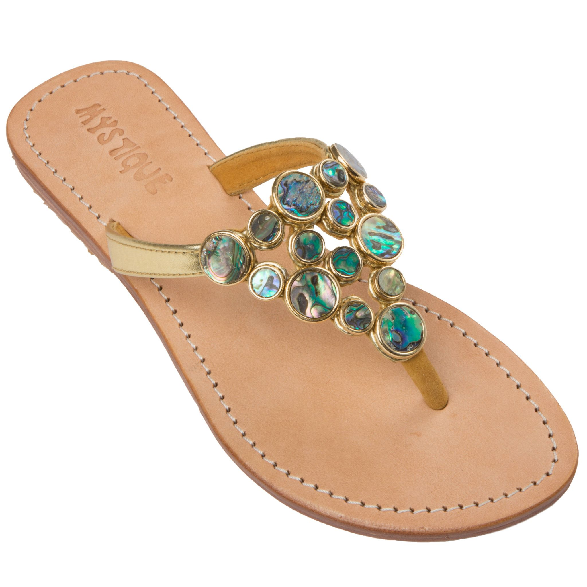 5ff82d739ac1 Crete Leather Sandals Flat