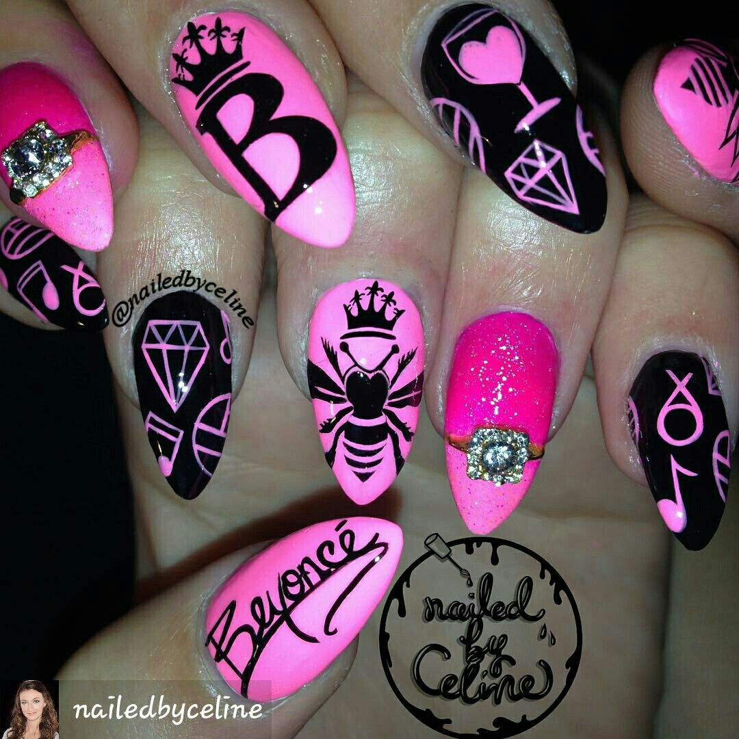 Beyonce Nails Themenailart Nailartdesigns Nailartnails
