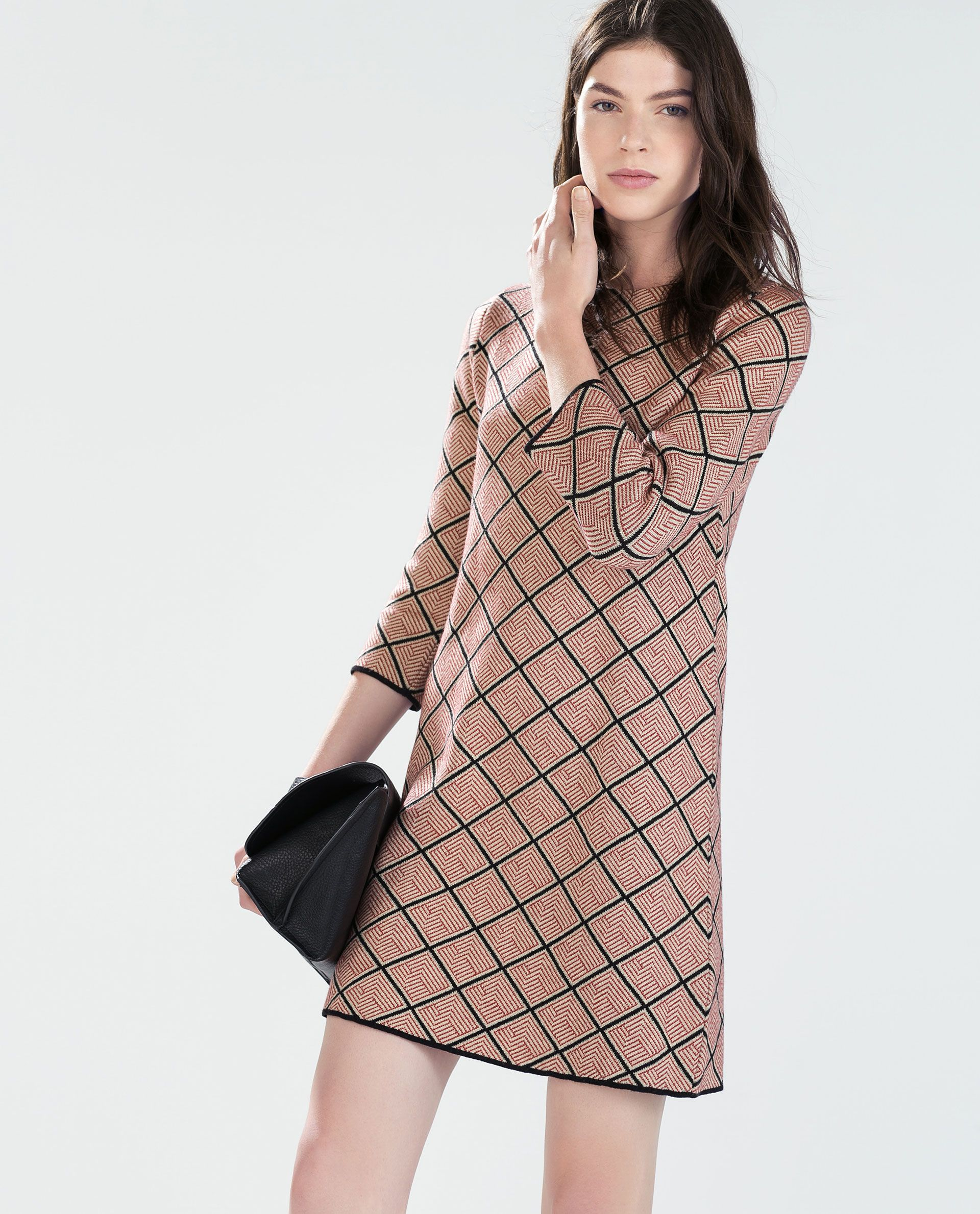 image 2 of micro-jacquard dress from zara | dresses