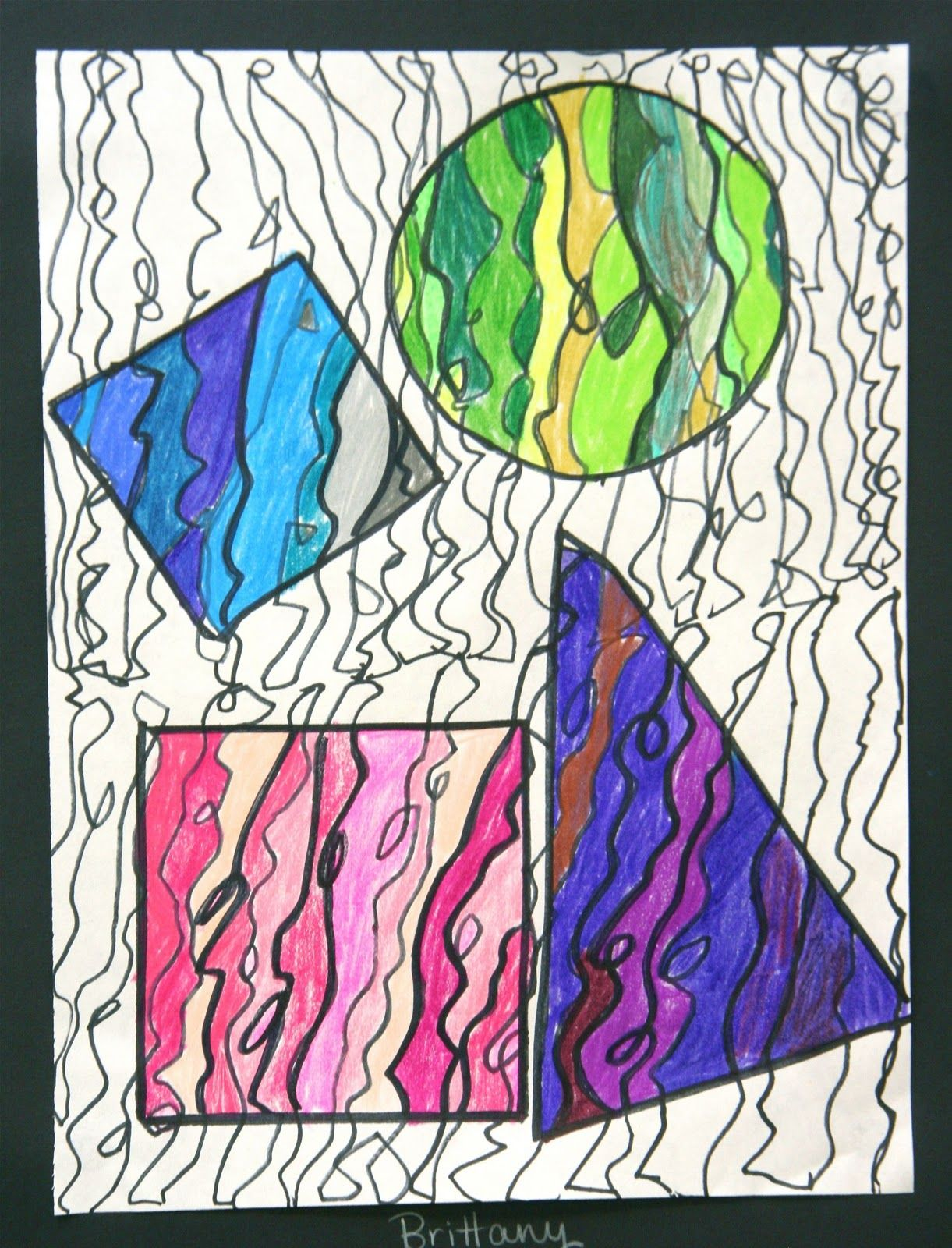 Students In Grades 4 6 Have Been Working On These Fun Colorful Drawings For The Past Two Weeks This Project Went Ri Classroom Art Projects Art Art Classroom