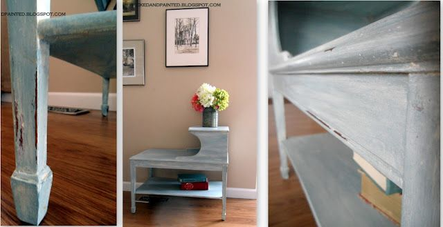 another homemade chalk paint recipe - 1 cup latex paint and 1/2 cup baking soda