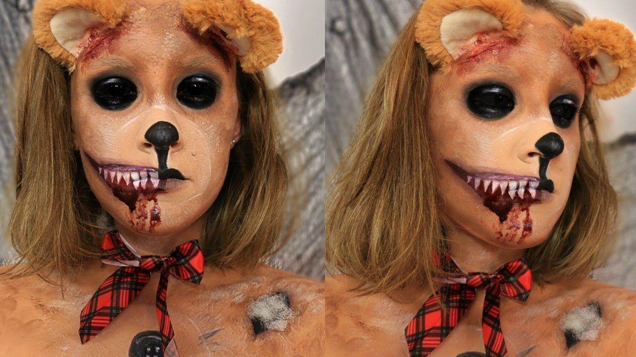 Evil Teddy Bear Makeup Tutorial Halloween 2017 in 2020