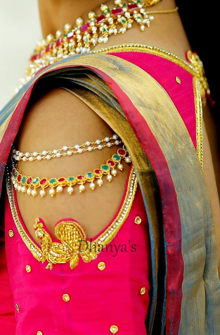 Design of saree blouse awesome sleeve hanging  blouse  pinterest  blouse saree blouse