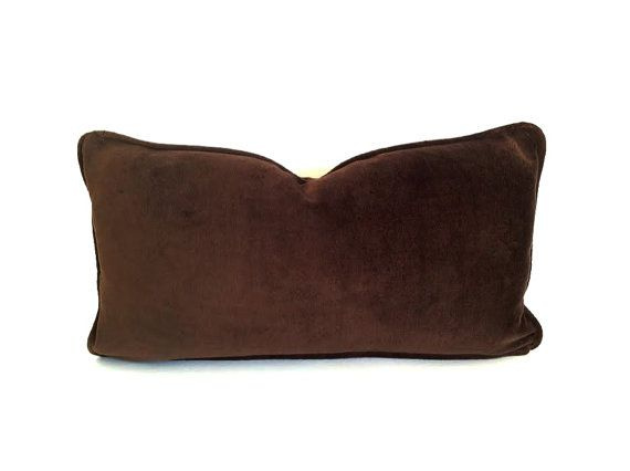 Velvet Lumbar Throw Pillow