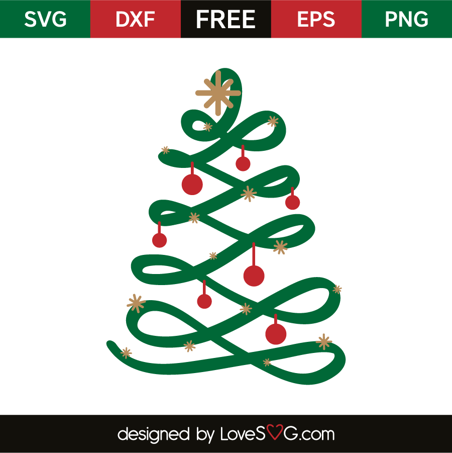 Christmas Tree Svg Free Download.Christmas Tree Flourish Cricut Svg Files For Cricut