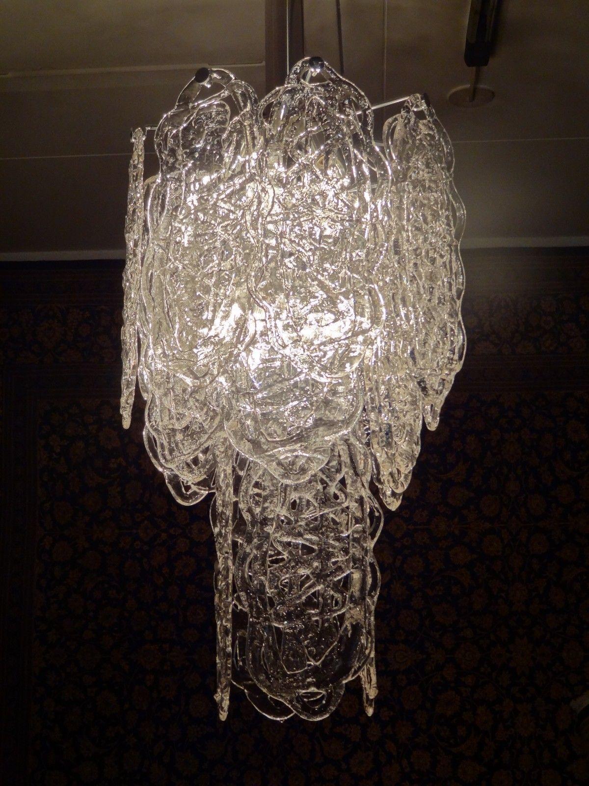 MAZZEGA murano glass vintage chandelier ceiling light hanging lamp ...