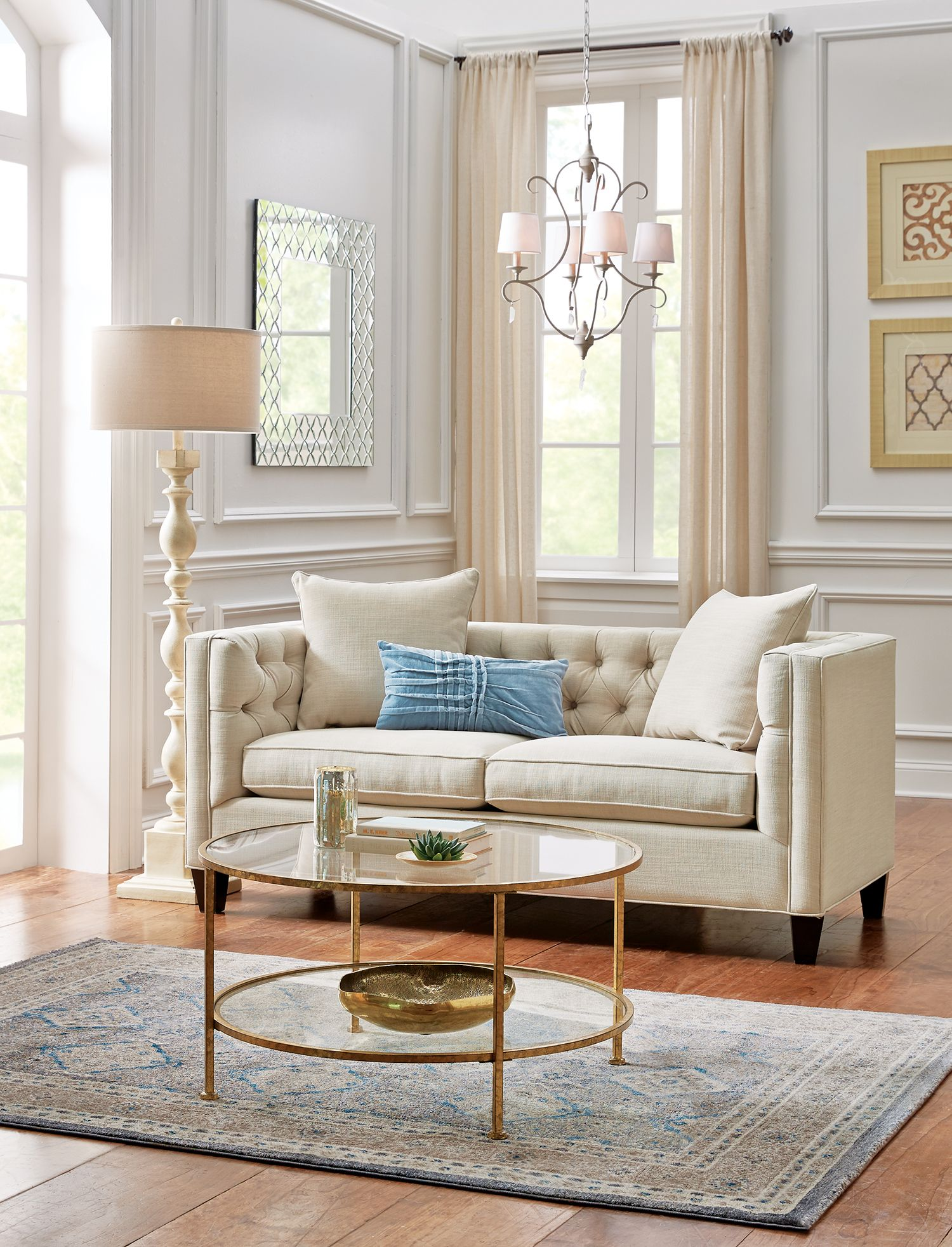 Home Decorators Collection Lakewood Beige Linen Sofa 1310710870  The Home