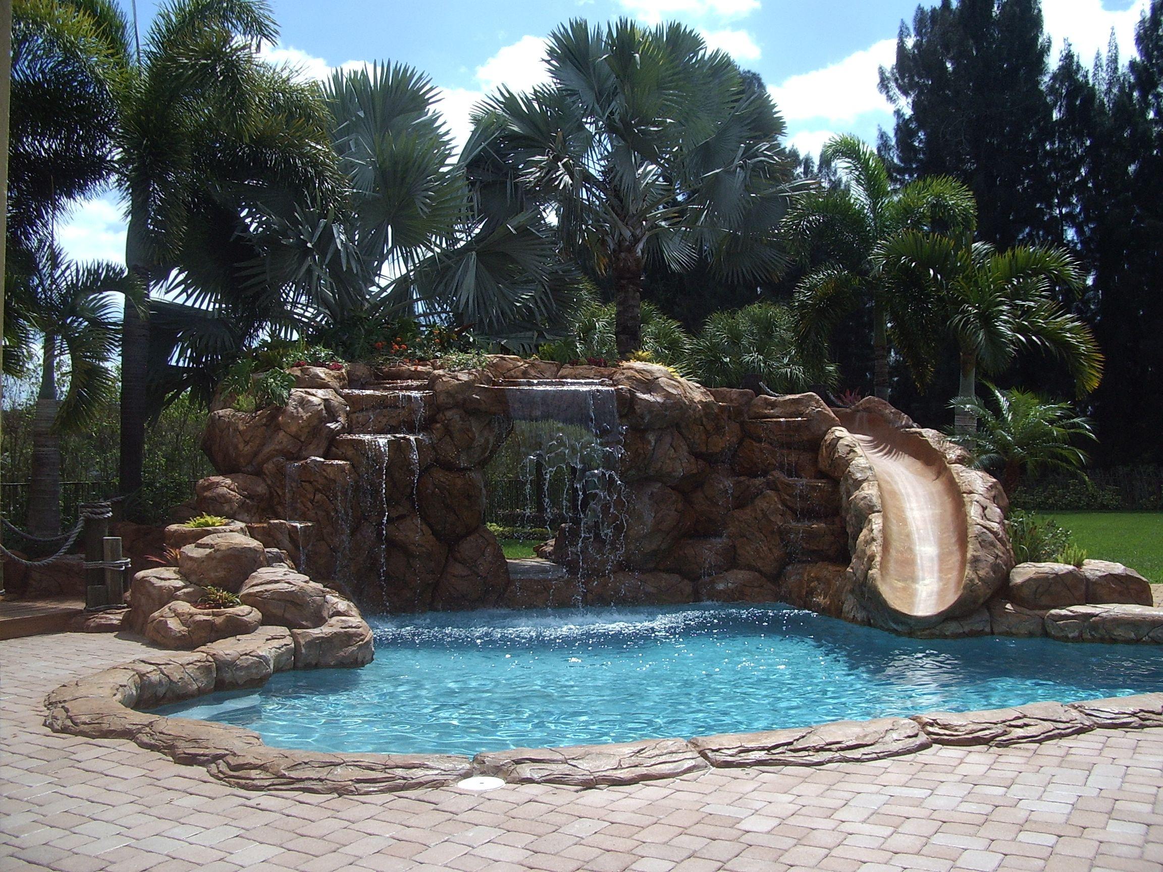 pool waterfall poolwaterfall Tiki Huts for Sale