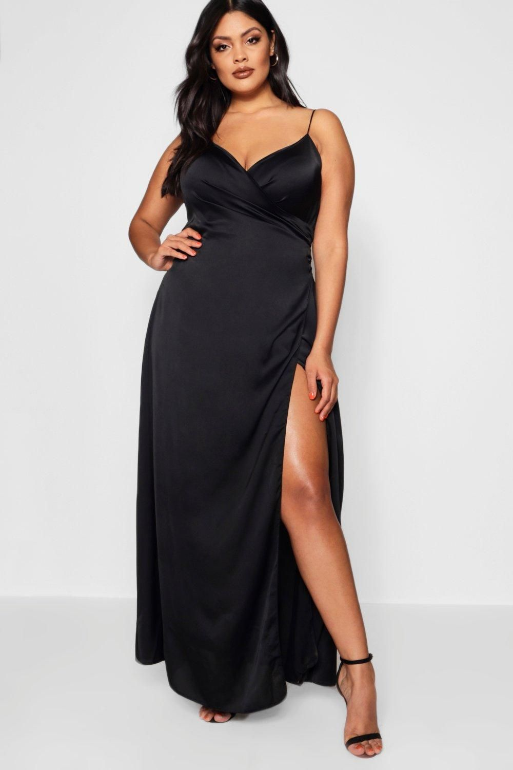 a484fe5e59c Click here to find out about the Plus Louisa Satin Wrap Maxi Dress from  Boohoo