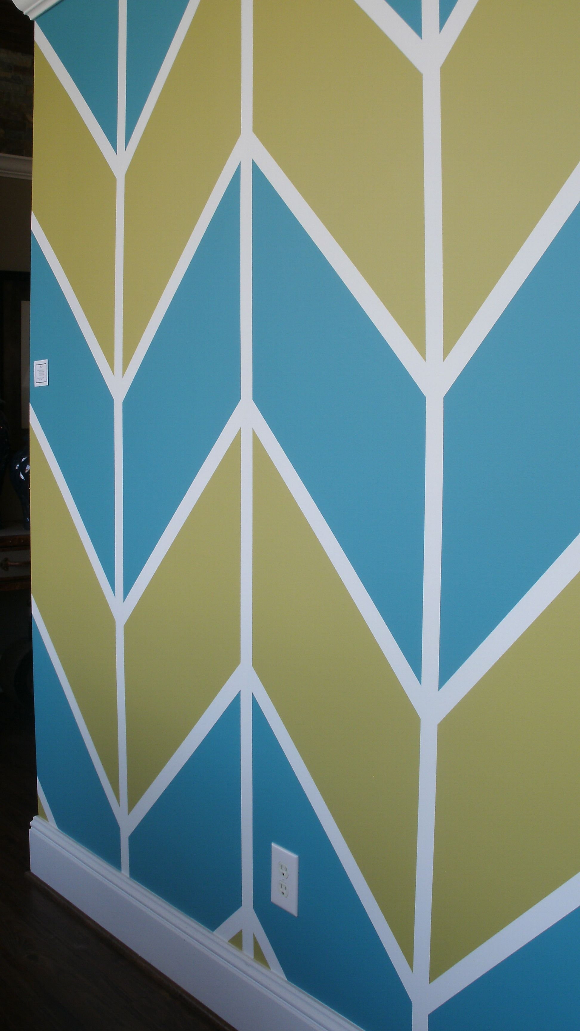 Benjamin Moore Colors Wall Color 741 San Jose Blue And 391 Sweet Vibrations Chevron Pattern