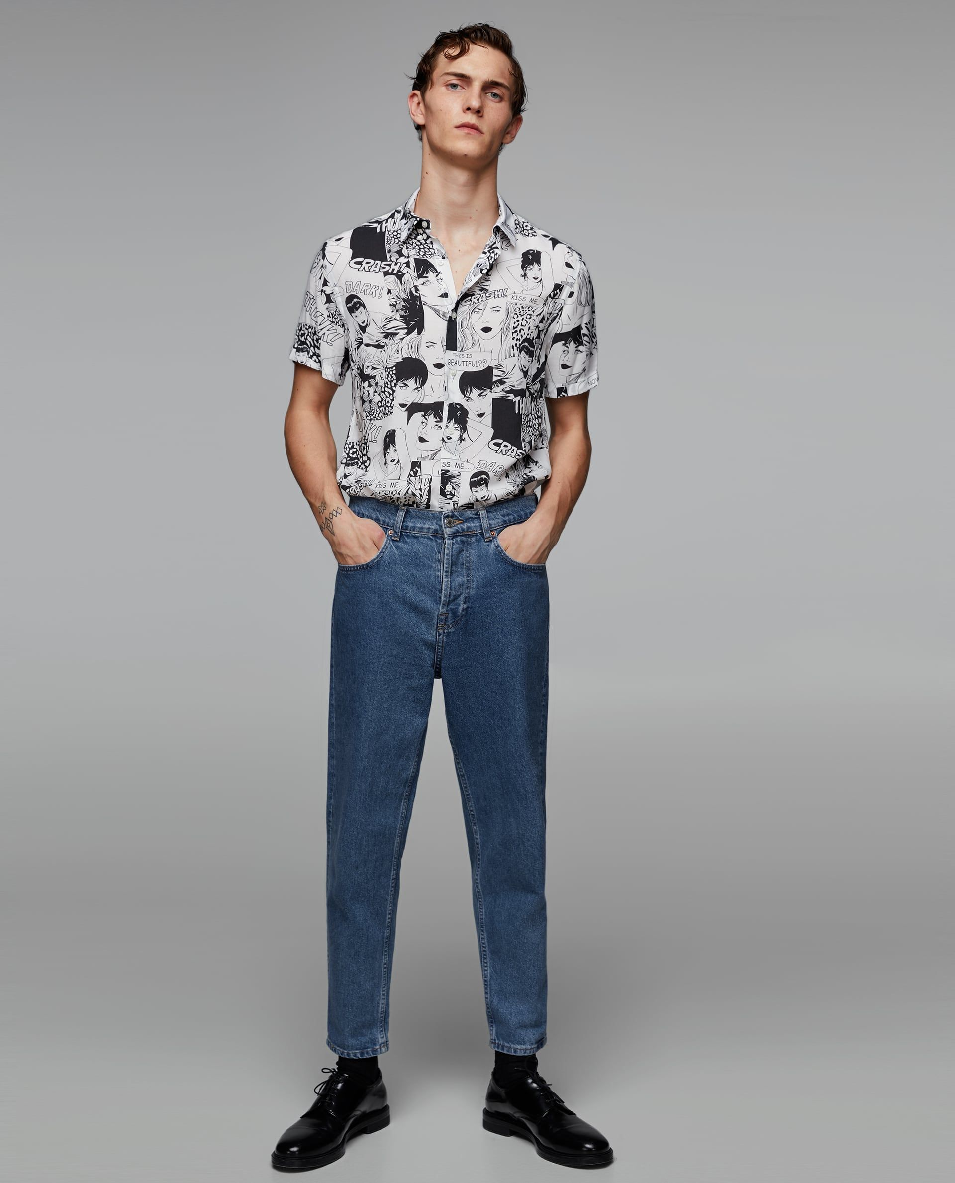 44a30b8f Image 1 of COMIC STRIP PRINT SHIRT from Zara   New! in 2019 ...