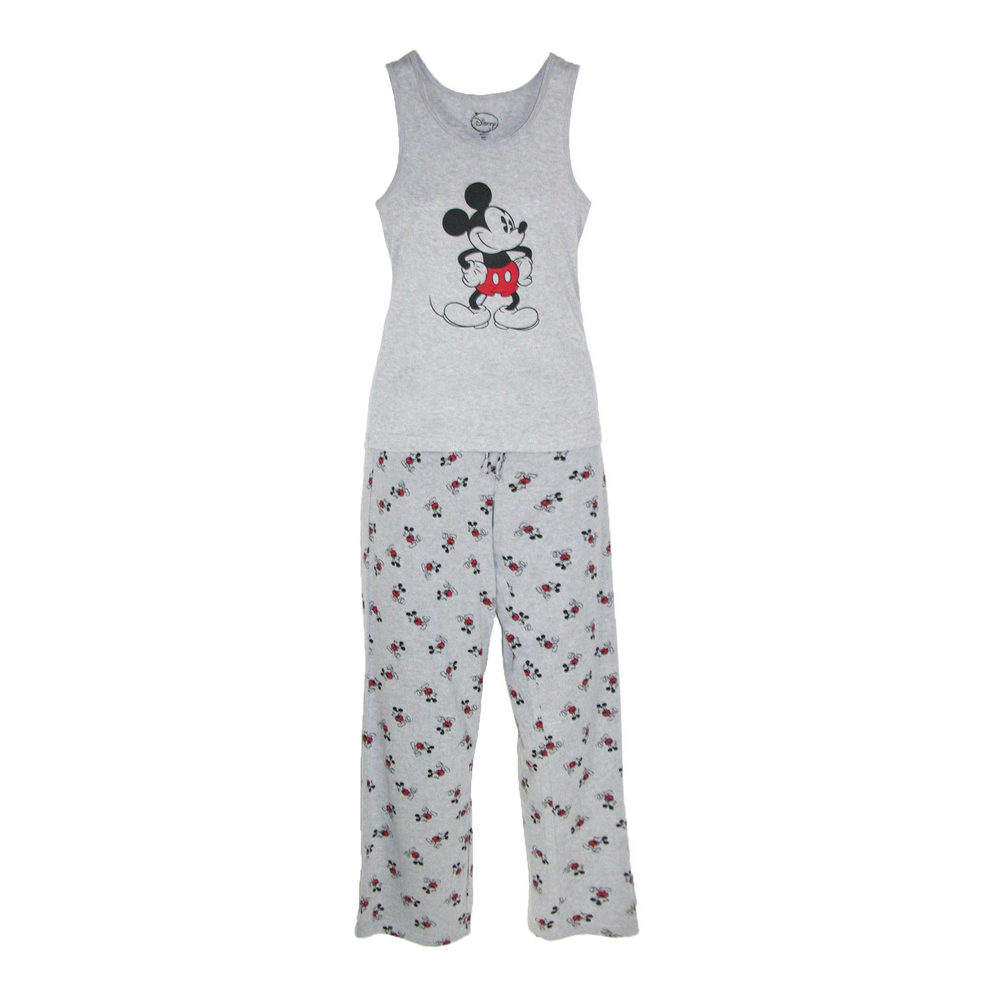 CTM Disney Mickey Mouse Womens Tank and Pant Pajama Set