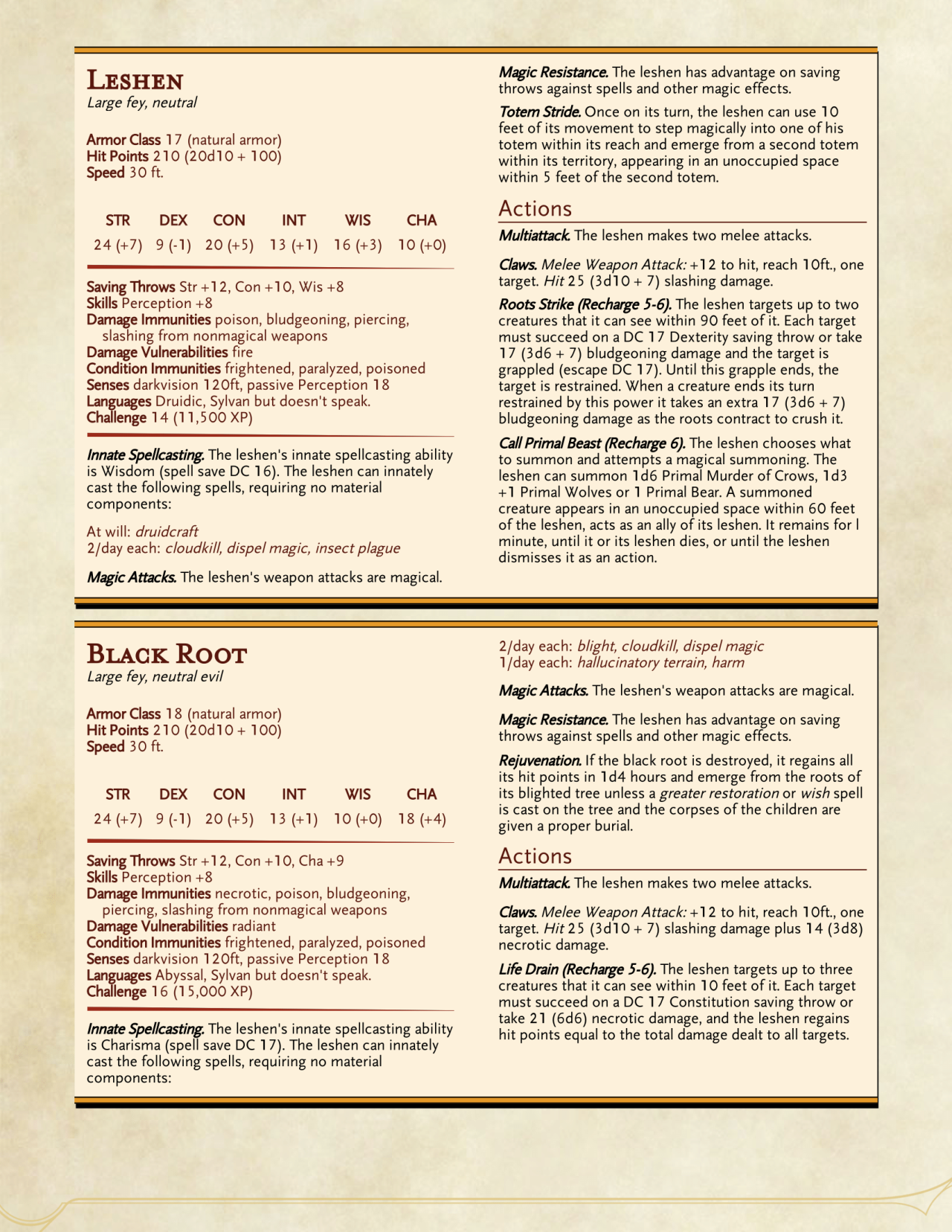 DnD 5e Homebrew | dnd in 2019 | Witcher monsters, Dnd 5e
