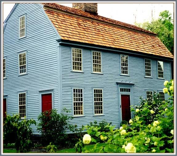 1750 Saltbox - The Glebe House & The Gertrude Jeckyll Garden in Woodbury, Connecticut #historichomes