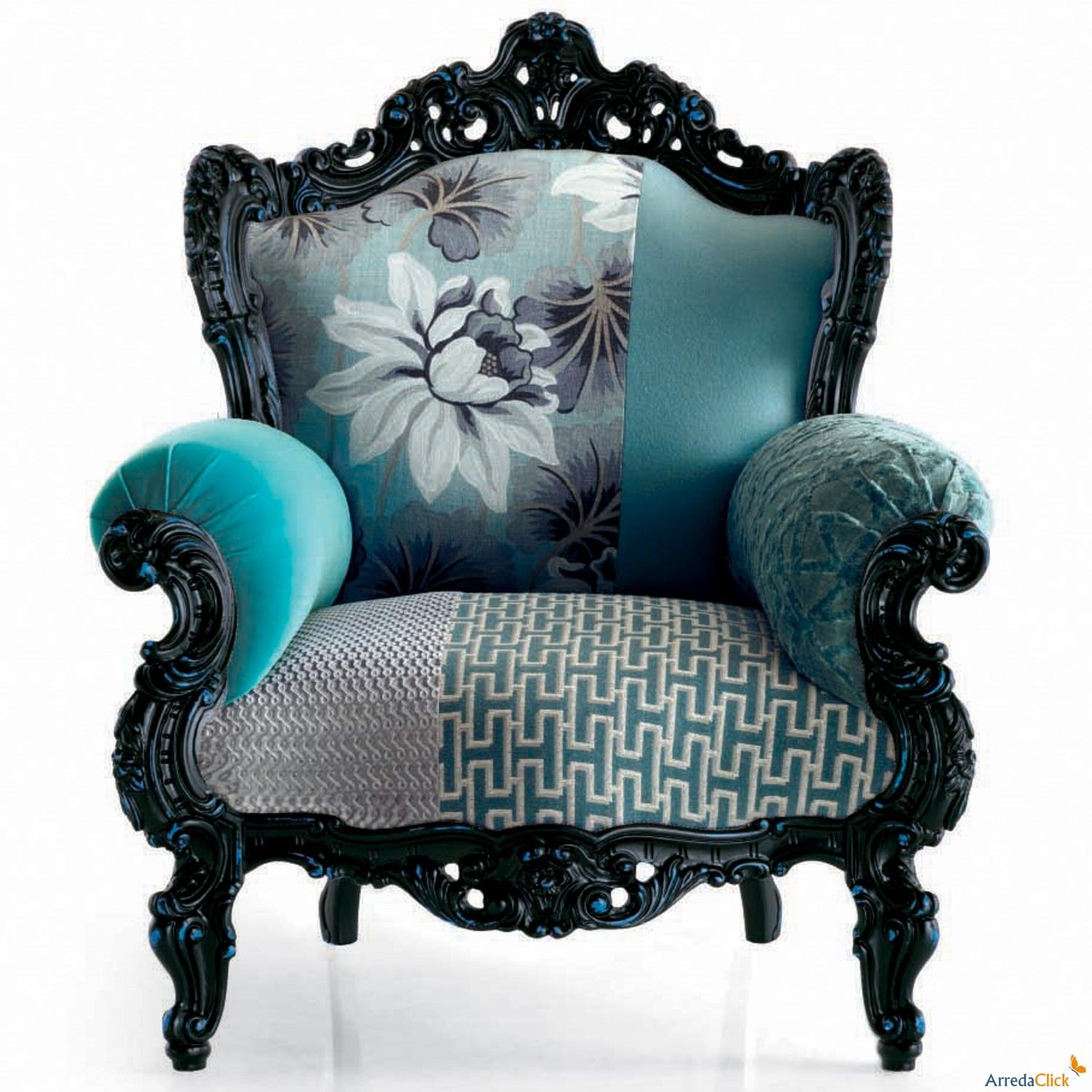 black and teal bedrooms Poltrona Prince con struttura