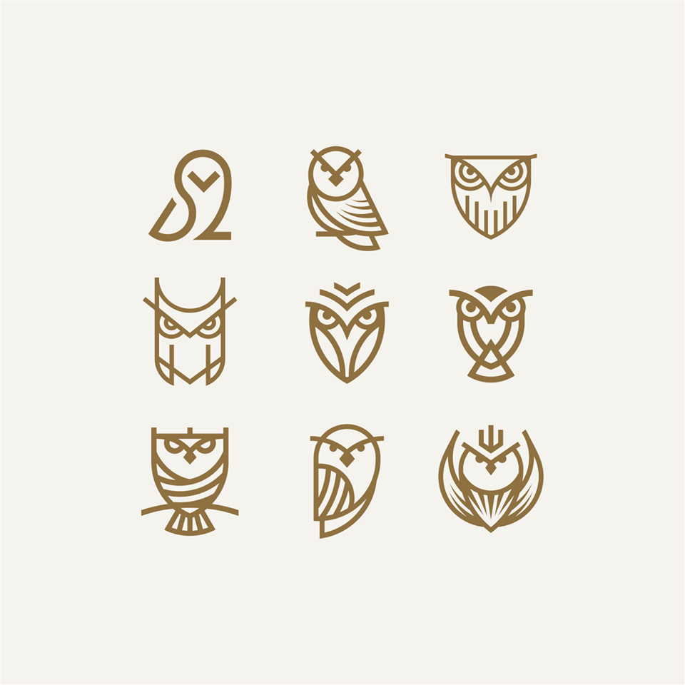 Simple Minimalist Owl Tattoo: Six Awesome Owl Minimal Logo Collection (With Images