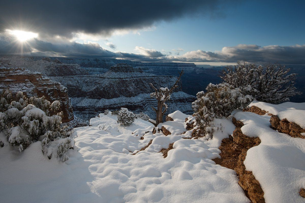 Snow On The Grand Canyon Landscapes Snow Mountain