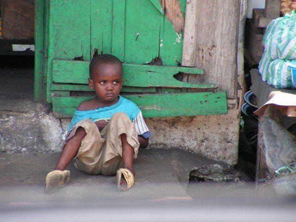 African Boy Names: Young Boy In War Torn Monrovia, Liberia.