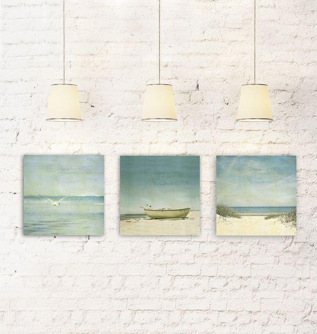 Farbe seaside leinwand set je 30 x 30cm ein - Leinwand dekorieren ...