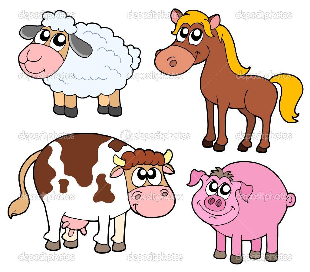 Cartoon Farm Animals - Bing Images | Paintings | Cute ...