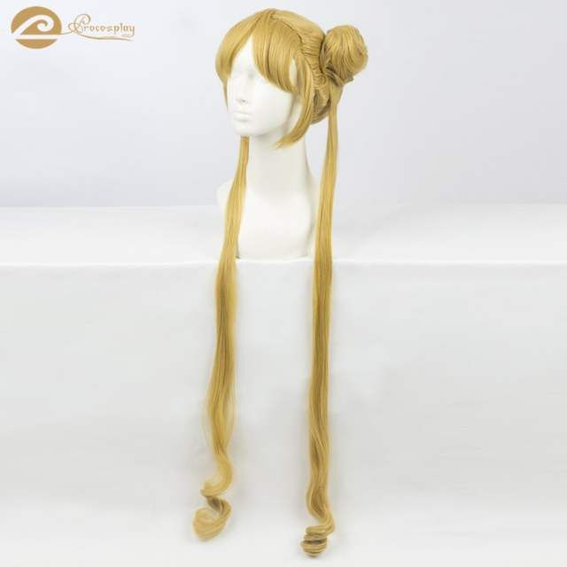 Photo of US $26.5 |Classic Anime Sailor Moon Tsukino Usagi Cosplay Wigs sailor moon cosplay wig with a buns and pony tails mp003938-in Costume Props from Novelty & Special Use on AliExpress