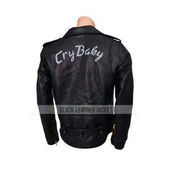 Iso Cry Baby Johnny Depp Black Leather Jacket Baby Leather Jacket Johnny Depp Cry Baby Black Leather Jacket