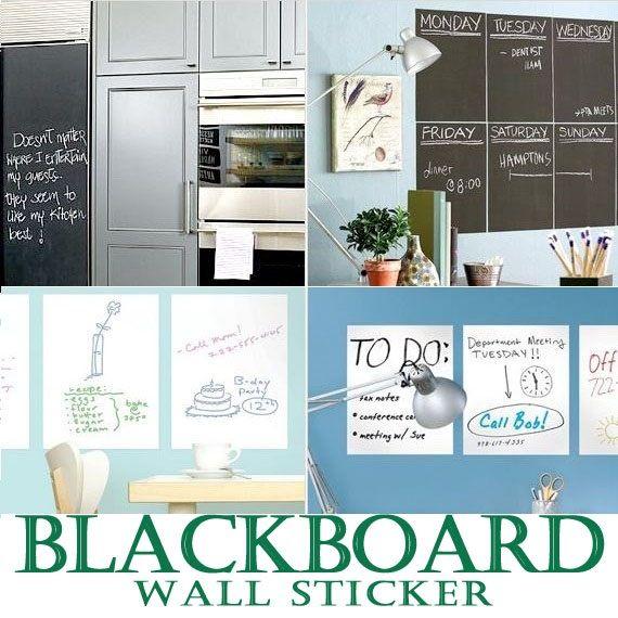 Chalkboard Blackboard / Whiteboard Wall Decal Sticker Kids