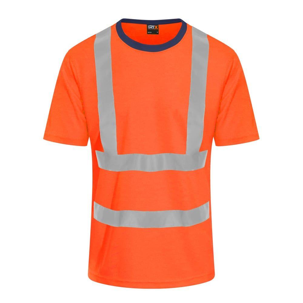 T-Shirt Haute Visibilité Hv Orange / Navy – PRO RTX RX720 – Taille: L   – Products