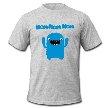 Tee shirt Om nom nom nom #cloth #cute #kids# #funny #hipster #nerd #geek #awesome #gift #shop  Great finds!