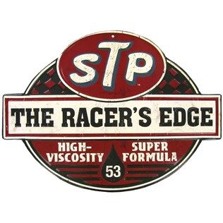 If timeless nostalgic decor revs you up, this STP The Racer's Edge Embossed…
