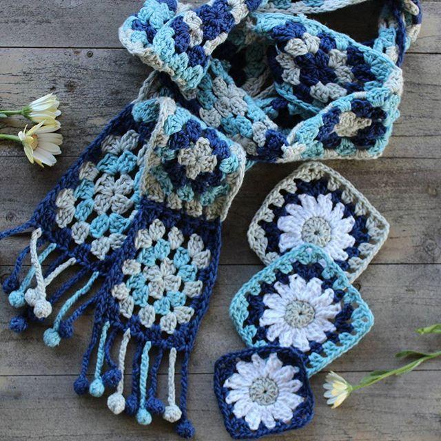 crochetgirl99 bufanda cuadrados de ganchillo   Proy Chochet Granny ...