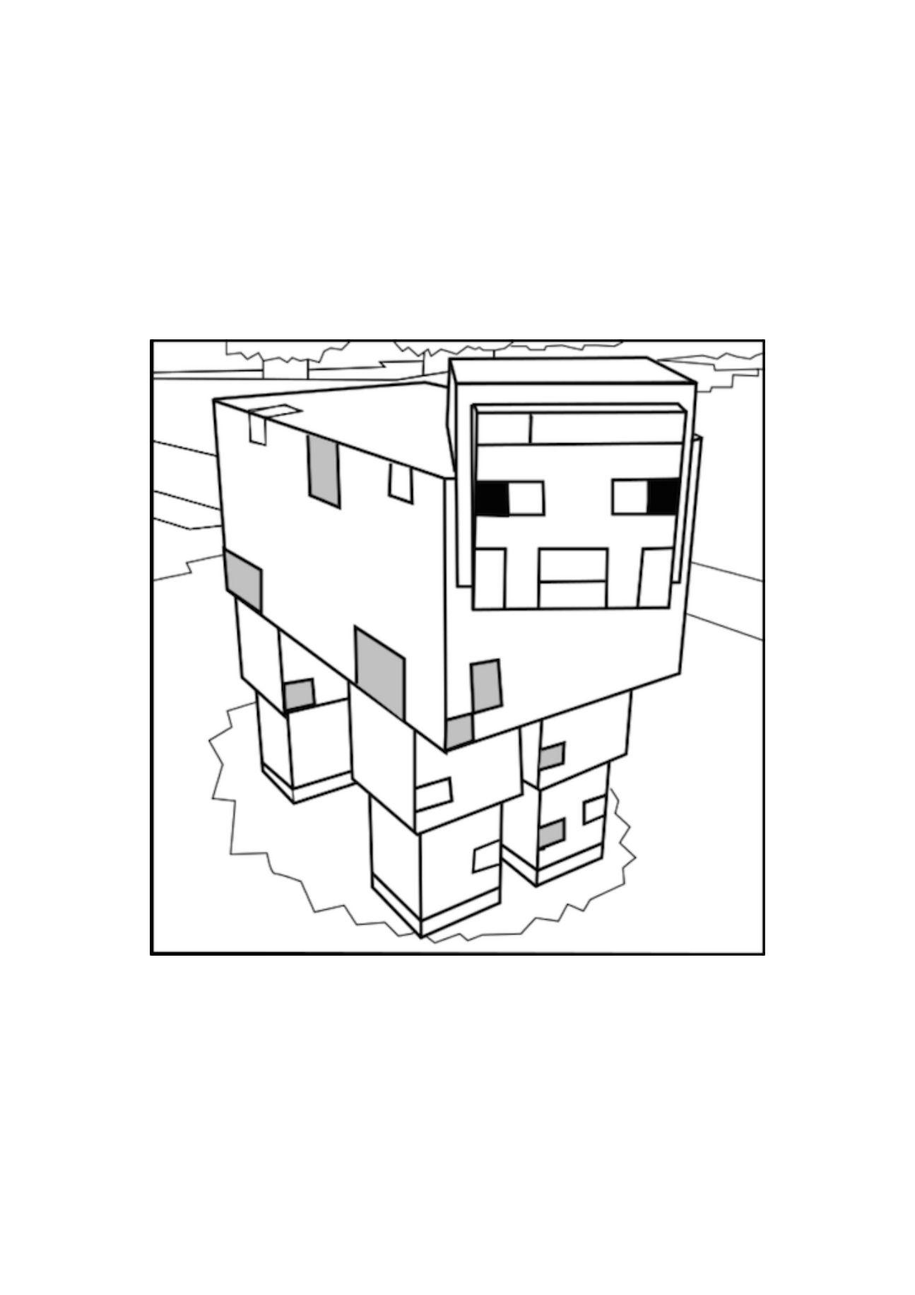 раскраски про миникотика из майнкрафта распечатать #3