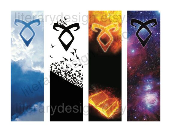 Mortal Instruments Printable Bookmark VIRTUAL DL - Angelic Power